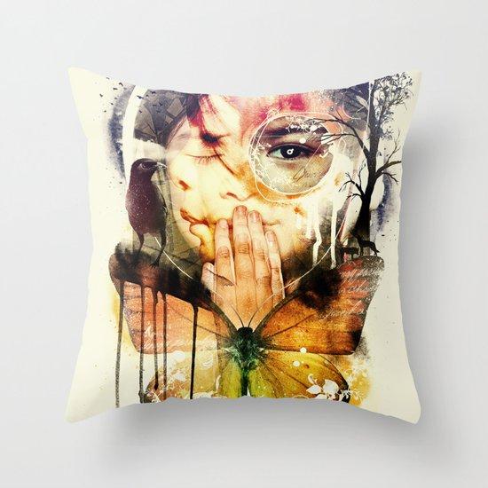 The Silence Throw Pillow