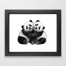 Panda's Hugs G143 Framed Art Print