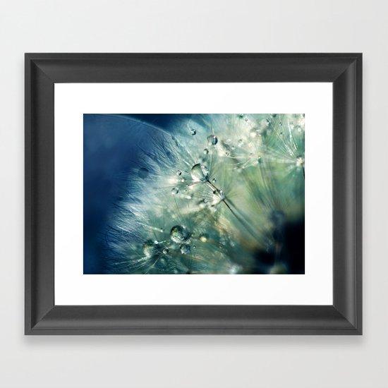 Dandelion Drama Framed Art Print