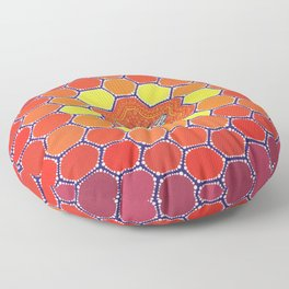 Bee Sacred Geometry Floor Pillow