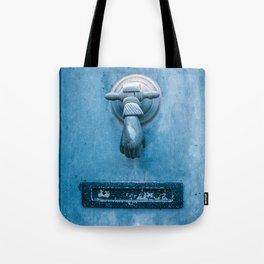 Blue Doorknocker Tote Bag