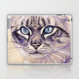 Blue Eyes Cat Glance S005 Laptop & iPad Skin