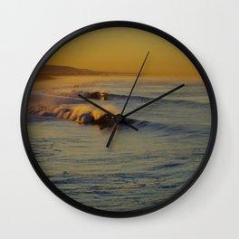 Golden Waves Huntington Beach, California Wall Clock