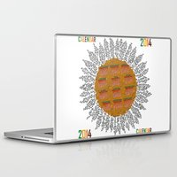 calendar Laptop & iPad Skins featuring Calendar 2014 - Sunflower by Julia Kisselmann