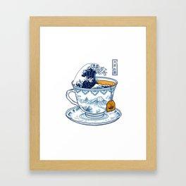 The Great Kanagawa Tee Framed Art Print