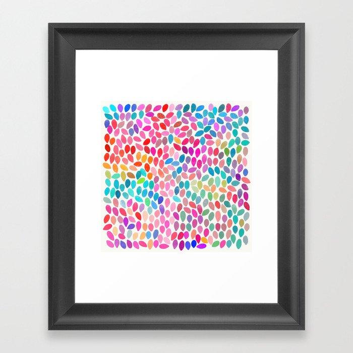 rain 8 Framed Art Print