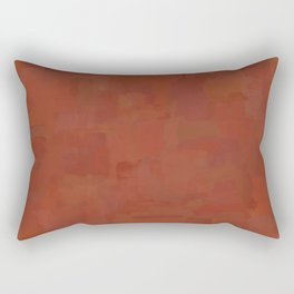 Hand-painted Abstract Textured Painting in Copper Clay Color, Paint Texture, Trendy Earthy Mud Print Rectangular Pillow