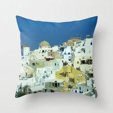 Oia Windmills Throw Pillow