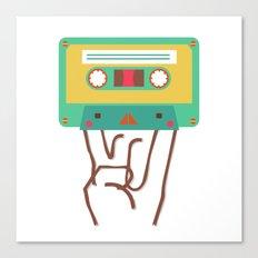 rock'n roll cassette Canvas Print
