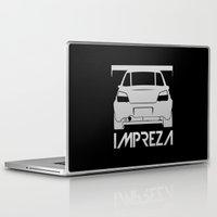 subaru Laptop & iPad Skins featuring Subaru Impreza - silver - by Vehicle