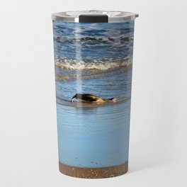 Common Loon Along Shore Travel Mug