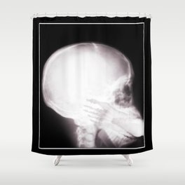 Foot In Mouth X-Ray Shower Curtain