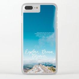 EXPLORE / DREAM / DISCOVER Clear iPhone Case