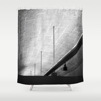 the lights Shower Curtains featuring Lights by Mario Sa