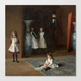 The Daughters of Edward Darley Boit by John Singer Sargent (1882) Canvas Print