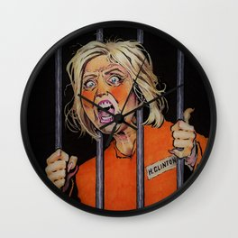 Lock Her Up Wall Clock