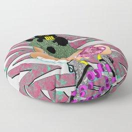 sK8 or Die - Cheeky Roller Derby Girl Digital Illustration Floor Pillow