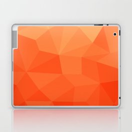 Abstract Geometric Gradient Pattern between Pure Red and very light Orange Laptop & iPad Skin