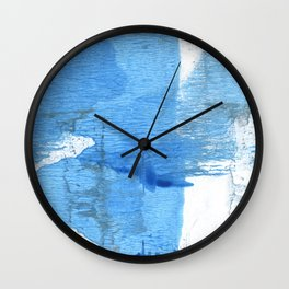 Corn flower blue hand-drawn wash drawing paper Wall Clock
