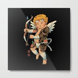 Samurai Cupid Metal Print