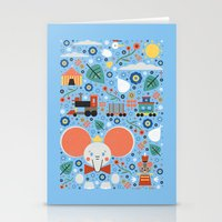 dumbo Stationery Cards featuring Dumbo by Carly Watts