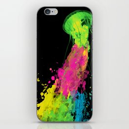 splatter jellyfish iPhone Skin