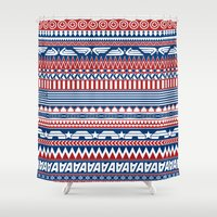 steve rogers Shower Curtains featuring Tribal Heroes - Steve Rogers by monobuu