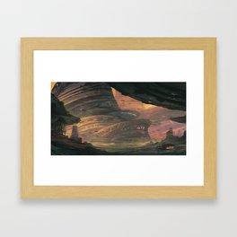 Sci-fi station Framed Art Print