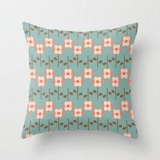 Geo Flower Line Throw Pillow