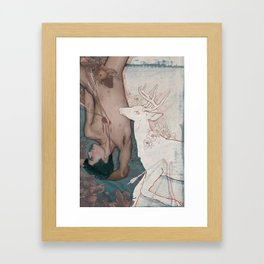 Camelia and Quince Framed Art Print