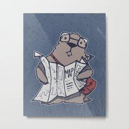 A Geeky Marmot Metal Print