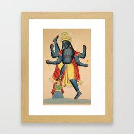 Trivikramapada (Three Steps of Vishnu) - Vintage Indian Art Print Framed Art Print