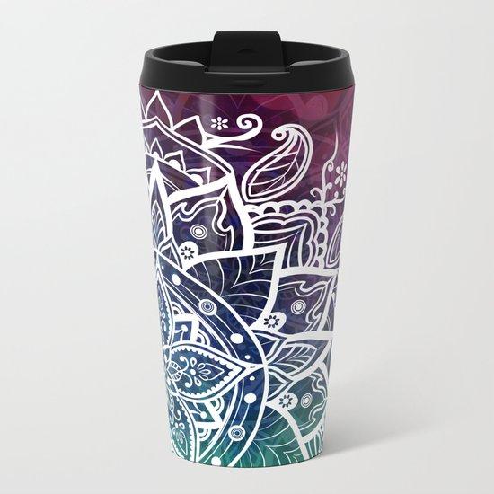 Free Spirit Floral Mandala Metal Travel Mug