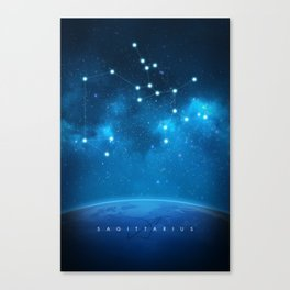 Sagittarius: Astrological Art Canvas Print