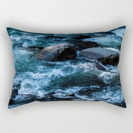 Like Stones Under Rushing Water Rectangular Pillow