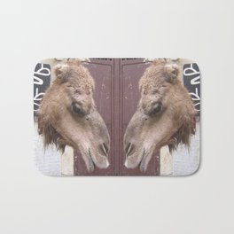 A camel in Morocco Bath Mat