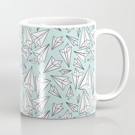 Paper Airplanes Mint Coffee Mug