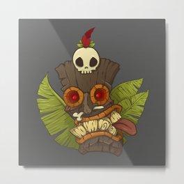 Tiki Mask Metal Print