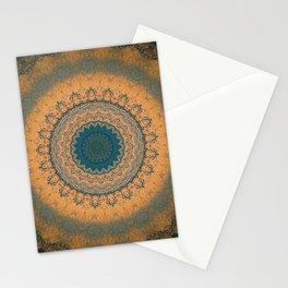 Bohemian Orange Stationery Cards