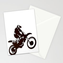 Motor X Silhouette Stationery Cards