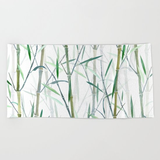 New Bamboo Forest Beach Towel