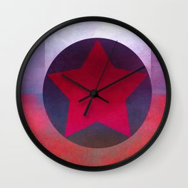 Star Composition X Wall Clock