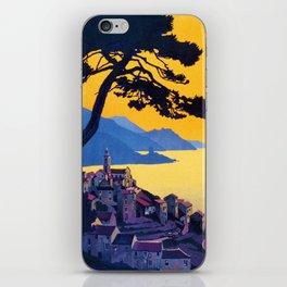 Le Tour Du Cap Corse, French Travel Poster iPhone Skin