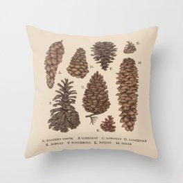 Pinecones Throw Pillow