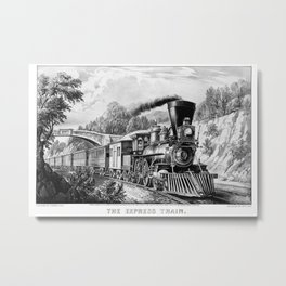 The Express Train 1870 Metal Print