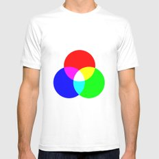 RGB White MEDIUM Mens Fitted Tee