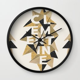 Clementine's Sparkle Wall Clock
