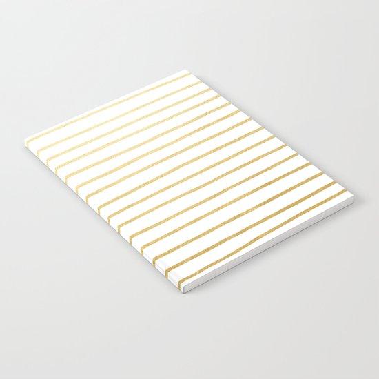 Gold Paris Stripe Pattern Notebook