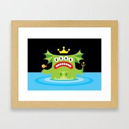 The Queen Of The Deep. Framed Art Print