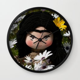 Frida Khalo Doll Wall Clock